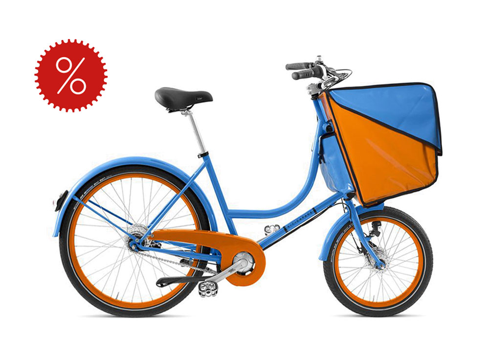 Bicicapace Family in Farbe Blau mit Orange