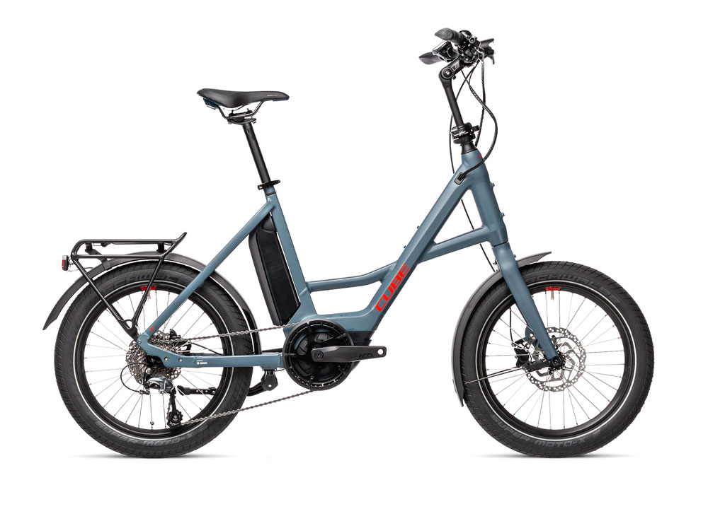 Cube Compact Sport Hybrid, Farbe blau mit rot