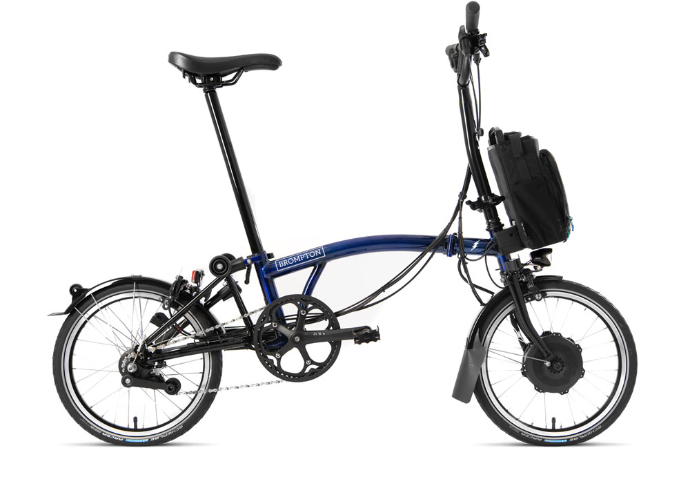 Brompton Electric H6L D in Farbe bolt blue