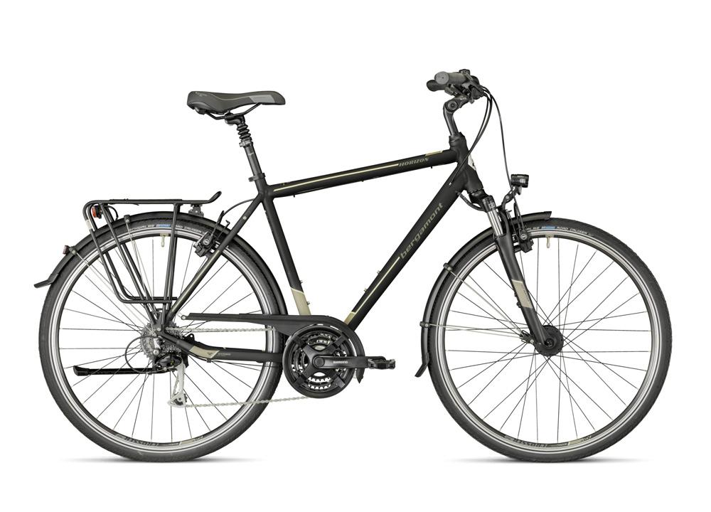 Bergamont Horizon 5.0 in Farbe Schwarz matt mit Grau